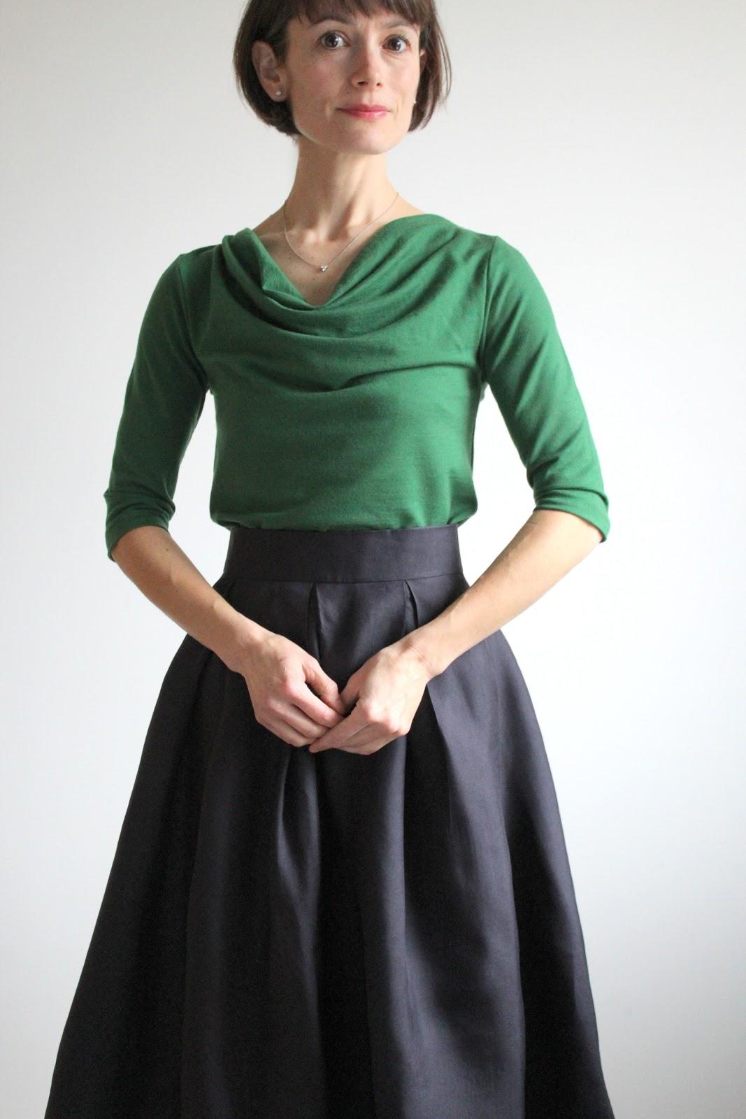 party skirt in silk gazar with drapey wool top  u2013 bea  u0026 lucille