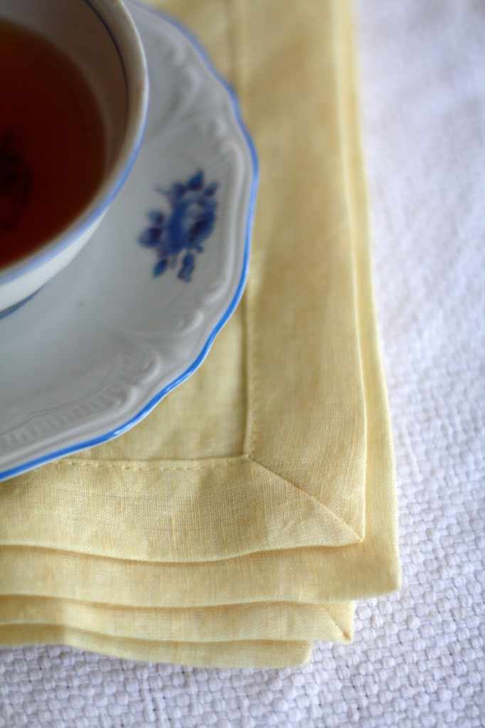 Formal linen napkins